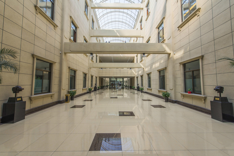 欧式的建筑风格设计,以及挑高中庭设计,大气气派,给企业创造了一个
