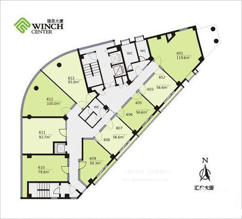 汇泉大厦房型图